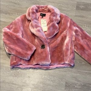 Pink Faux Fur Short Coat